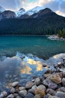 Evening at Lake Louise II by finkycake
