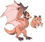 [p] new dragon character by wallaberry