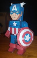 Captain America Paper Hero by xavierleo