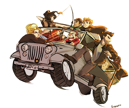 TW - Too Many Teens in a Jeep (and Derek) by Guzusuru