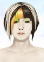 Person with hair by 1022