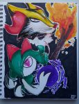Kirlia and Braixen by Graphite-Lion