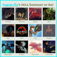 2014 Summary of Art by sugarpoultry