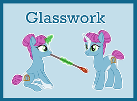 Glasswork ref (OC) by Bakufoon