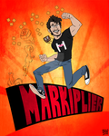 Markiplier Graphic Tee 2k14 - WORK IN PROGRESS by vickyjane