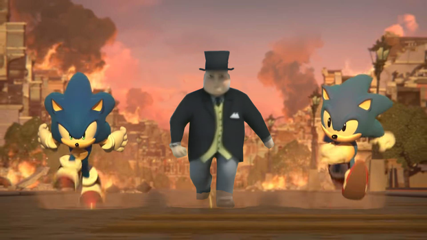 Sir Topham Hatt in Sonic Forces by TheLogoCooler