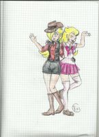 SniperRosalina and Sailor Peach by vivuz