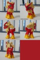 Blaziken Ponymon by ChibiSilverWings