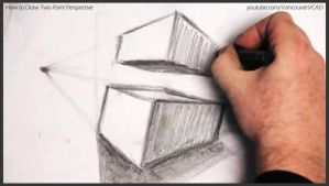 How to draw two point perspective 024 by drawingcourse