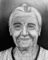 Elderly lady by Erika-Farkas