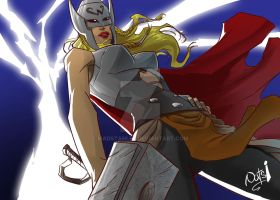 Female Thor by madstanlee