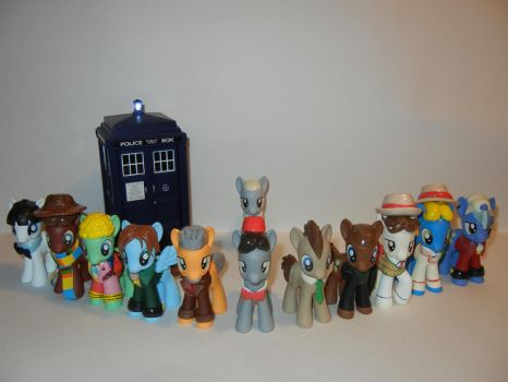 The Twelve Doctors and the TARDIS by SilverBand7