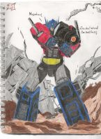 Optimus Prime Last Stand by dbjc13