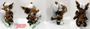 Dutch Angel Dragon -Coffee custom plush commission by Kitamon
