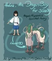 Haku Dragon Boy for Squiby by creanima