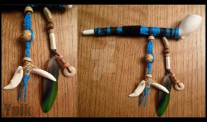 Blue Striped Pipe - For Sale by Shamans-Yoik