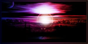 Diving Sunset by Gamechaser