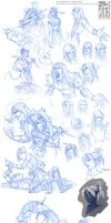 EQII Sketchdump by Quarter-Virus