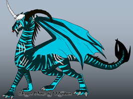 Frost Scar Adult Dragon by dracosear