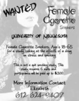 Female Cigarette smoker WANTED by Nofaces429