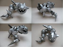 Pokemon- Steelix Papercraft by savaskul