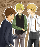 Hetalia 1920's Style [Art Trade] by pastelteapot