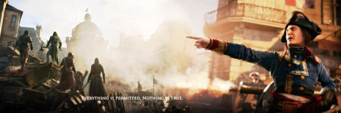 Assassin's Creed Unity Twitter Header :) by TheEViLN