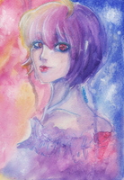 Violet Lady by Niki-and-Diana