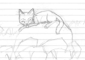 Sleeping cat by Perry--Agent