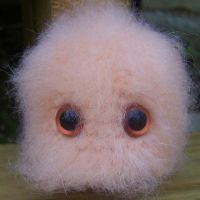 Peachy Poof Monster by ChezMichelle
