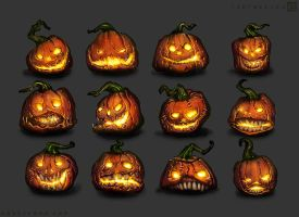 Pumpkins by noistromo