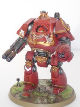 Blood Angels Contemptor Dreadnought by MirshBeskaryc