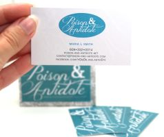 Poison and Antidote Business Cards by chat-noir