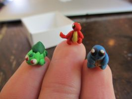 Kanto Starters Fingertip Size by xXShiningstar