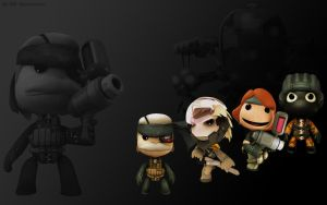 LittleBigPlanet MGS4 wallpaper by DRSpaceman