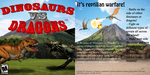 Dinosaurs vs. Dragons CD Cover All by weirdnwild91