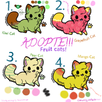 Adopte for own fruity cat! :OPEN: by bamboocath