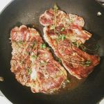 Pan roasted lamb blade steak with thyme by ThomasVo