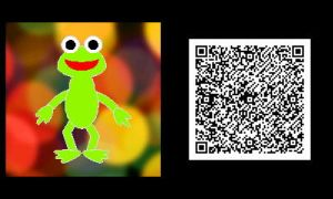 Freakyforms: Robin the Frog QR Code by nintendolover2010