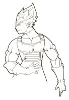 Prince Vegeta - Inked by maybeDIETER