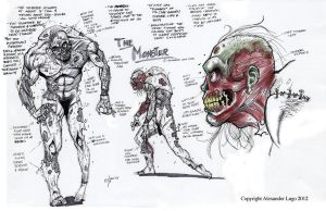 Frankenstein Monster Concept Design by aldoggartist2004