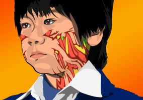 Vector Portrait of Arashi Fukasawa by maddaluther