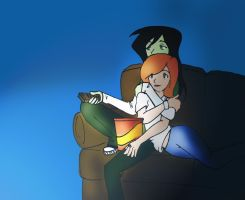 kim-shego watching tv by jellynoid