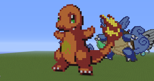 Minecraft Pokemon #004 Charmander by Sherio88
