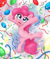 MLP FIM - Pinkie Pie Party Hard by Joakaha