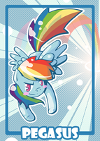 Pegasus Token Rainbow Dash by ClaarBar