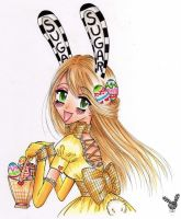 Easter Bunny chan by SugarSugarHyperLolly