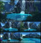 Mermaid Lagoon Backgrounds by BackgroundSource