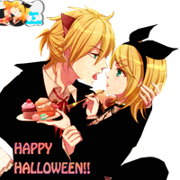 Rin and Len Hallowen by FuwaFuwaS