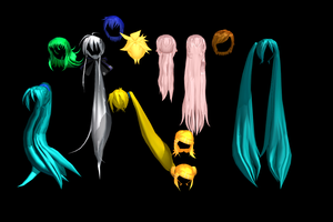 MMD Kio Hair Pack DL by 2234083174